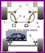 Saab 9-3 (98-02) Powerflex Suspension Bushes Kit [inc. Poweralign camber bolts]