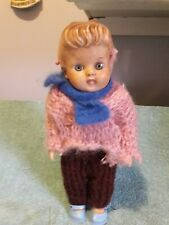 Vintage EEGEE Rubber Baby Doll 1950's Molded Hair w/Bun