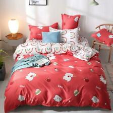 3D Cute Cat Burger Red Ball KEP8489 Bed Pillowcases Quilt Duvet Cover Kay