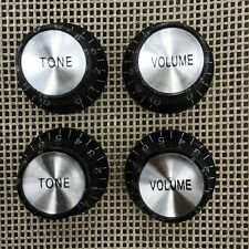 🎸 Set Reflector Top Volume & Tone Knobs for vintage Les Paul SG Guitar Parts