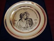 Solid Sterling Silver The Royal Anniversary Plate John Pinches London Queen