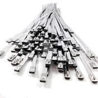 7.9mm x 680mm, STAINLESS STEEL METAL CABLE TIES TIE ZIP WRAP EXHAUST HEAT STRAPS