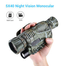 5X40 Night Vision Monocular Photo Video Record Telescope Hunting Infrared IP54