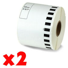 2 Roll 2-7/16 x 105ft 62mm DK-2205 Continuous Label Compatible Brother® QL-570