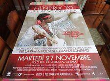 "HENDRIX 70 LIVE AT WOODSTOCK ORIG. 2012 ITALIAN ONE PANEL MOVIE POSTER 39"" X 55"""