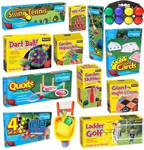 GIANT GARDEN PARTY GAMES OUTDOOR SUMMER INDOOR KIDS QUOITS JENGA DOMINOES GIFT