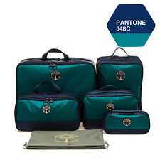 M SQUARE Travel Accessory corporate luxury suitcase travel kit bag set Navy blue