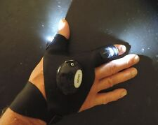 Hands Free Glove Flashlight Leaves Both Hands Free For Fun Night Fishing / Work