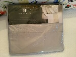 NEW!! HOtel Collection Queen Flat Sheet 600 TC Nickel Egypitan Cotton