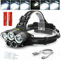 USB Rechargeable Headlamp LED Head Light Front Torch Flashlight 18650 90000LM
