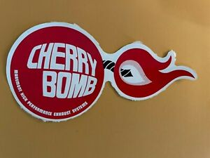 Cherry Bomb Exhaust Systems Used Decal : See description