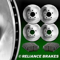 GMC Blazer Fit Chevrolet Jimmy Rear  Blank Brake Rotors+Semi-Met Brake Pads