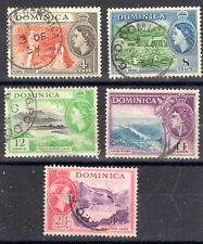 Dominica QE11 Fine used items 1954-62 [D2901]