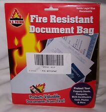 US Patrol Fire Resistant Document Protection Bag Jewels Money Papers Gun- SAFE