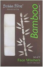 Bubba Blue Bamboo Baby Face Washer 3pk