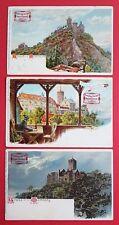 3 x Litho Reklame AK Dt. Fahrräder von August Stukenbrok Einbeck um 1900 ( 25633