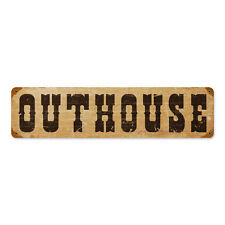 """Vintage Style Retro Rusty Rural Country Outhouse Steel Metal Sign 20"""" x 5"""""""