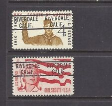 CALIFORNIA Precancels: Boy + Girl Scout Stamps - Riverdale 819  (# 1145 + 1199)
