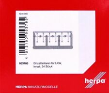 HERPA Zubehör 1:87/H0 Einzelfanfaren für LKW, chrom, 24 Stück #053785