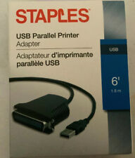 Staples 6' USB Parallel Printer Adapter Cable - Black
