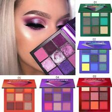9Colors Eyeshadow Palette Pigmented Matte Shimmer Makeup Gift Glitter Eye Shadow