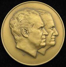 1973 Richard Nixon Spiro Agnew Official Inaugural Medal Franklin Mint Bronze