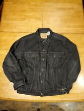 LEVIS DENIM TRUCKER JACKET 70507 WITH MUSIC PATCHES SIZE L
