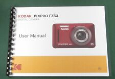 Kodak PixPro FZ53 Instruction Manual: Full Color with Protective Covers!