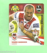2007 GOLD SERIES  RUGBY LEAGUE TAZO - #13 MARK GASNIER, DRAGONS