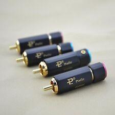 4pcs Pailiccs Gold Plated RCA Plug RCA Connector Audio RCA interconnect cable