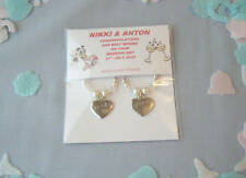 personalised packet of bride & groom heart wine glass charms  wedding gift