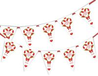 Happy Mothers Day Bunting Banner - Tulip's Heart - 15 flags by PARTY DECOR