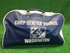 Rare Vintage Chief Seattle Council Duffle Bag Vinyl 1977 Washington Boy Scouts