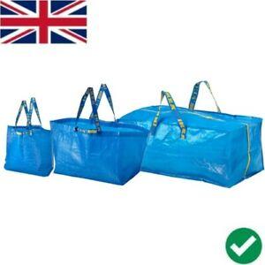 IKEA FRAKTA LARGE/ MEDIUM / SMALL BLUE CARRIER BAG LAUNDRY HOLIDAY STORAGE