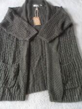 EX Fat Face Hepburn Taupe Medium Knit Acrylic Blend Open Neck Cardigan 14 16 12