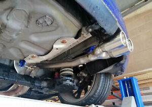 """Peugeot 208 GTi 200bhp Rear silencer delete pipe - Twin 3"""" tail pipe D"""
