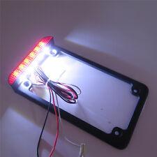 Universal Motorcycle Billet Aluminum LED License Plate Frame W/ Brake Tail Light