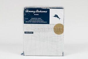 Tommy Bahama Cotton Soft Stone Bed Sheet Sets  King 4 pcs set white stripes