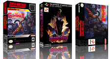 Super Castlevania IV SNES Replacement Game Case Box + Cover Art work (No Game)