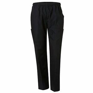 Unisex Plain Scrub Pants Medical Nurse Uniform Mid Blue, Navy | SCRUBS