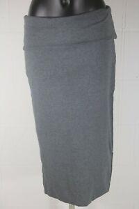 WG714 Mint Velvet Granite Fold Over Midi Skirt Size 14