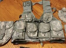 MOLLE II ACU FLC Vest with 4 Double Mag pouches .223/5.56 E-Tool Canteen Pouch