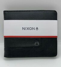 Men's Nixon Showoff Bi-Fold Leather All Black Wallet New With Tags
