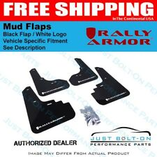 Rally Armor for 2003-2008 Subaru Forester UR Black Mud Flap w/ White Logo