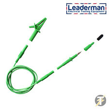 LDM006 Electrical Test Lead, Earth Bond Probe and Croc Clip Set for PAT Testers