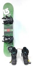 Burton USED  LTR Snowboard DEMO PACKAGE, Boot, size 6 & Binding,130 cm