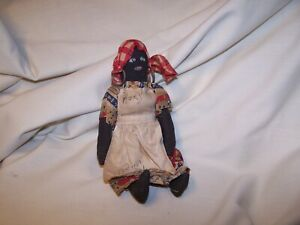 Vintage Hand Made Black Rag Doll  Jamaica British West Indies