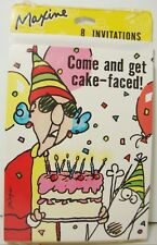 Hallmark Maxine Party Invitations For 8 Come and Get Cake Faced Crabby