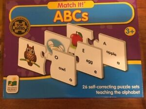 Match   It!   ABCs  Puzzle Game (3+) NEW