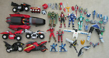 Huge Lot 1997 Bandai MMPR Power Rangers Figures Cycles Galactic Speeder etc.